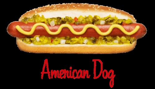 American Dog hotdog