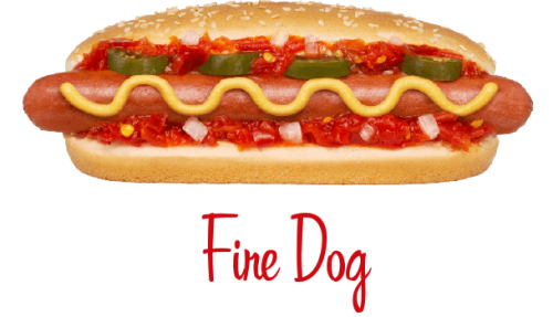 Fire Dog hotdog