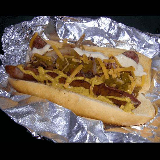 Beez-Neez hot dog