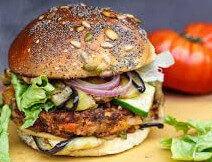 Indische veggie burger